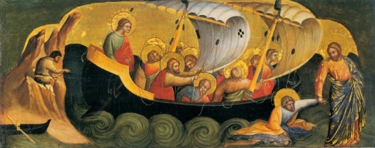 16_Lorenzo_Veneziano_Christ_Rescuing_Peter_from_Drowning._1370_Staatliche_Museen_Berlin.