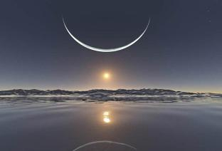 north-pole-sun-moon