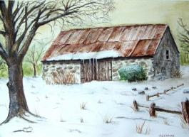 old-stone-barn-in-winter-terence-john-cleary
